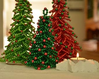 Chritmas Tree Beading Pattern | Christmas Tree Tutorial | Beading Tutorial | Christmas Decor | Beaded Christmas Tree | PDF Format