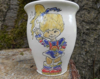 Rainbow Bright  Ceramic Coffee Mug Handmade
