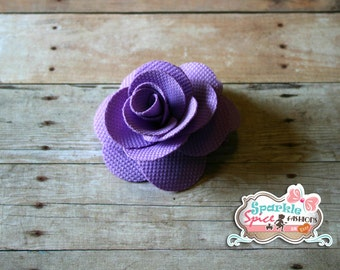 Purple Fabric Rose Hair Clip, Spring Hair Flower Clip, Small Hairclip, Lavendar