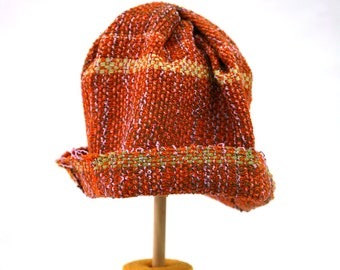 Unlined multi-fiber orange hat