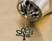 Leaf Tree Metal Stamp ImpressArt Design Stamp 6mm Leaves Stamping Tool for Jewelry, Tree of Life Design
