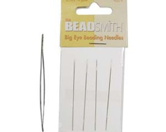 "Big Eye Needles Qty 4 Large Eye Needle for Bead Weaving Needles Beading Needles 2.125"" needles"