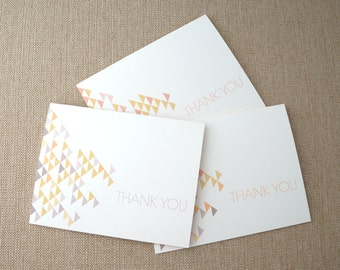 Triangle Thank You Cards - Set of 6