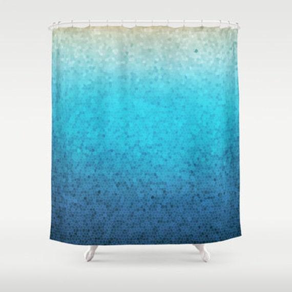 tissu de mosa que de verre de mer rideau de douche. Black Bedroom Furniture Sets. Home Design Ideas