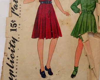 Simplicity 3477 size 8 girls dress vintage pattern