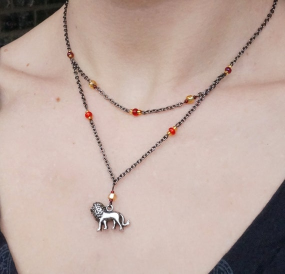 Game of Thrones inspired Lannister lion necklace