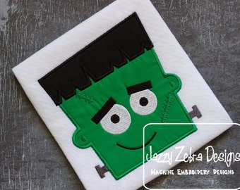 Frankenstein Applique embroidery Design - Halloween Applique Design