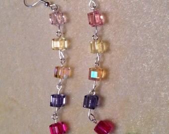 Perpetually - Swarovski Crystal Squares Earrings - so pretty**
