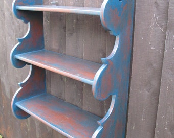 19th century Style hanging wall shelves