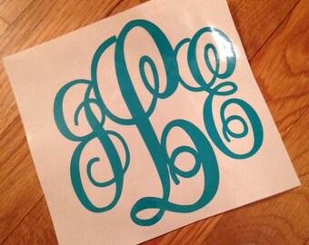 6 inch Monogram Decal
