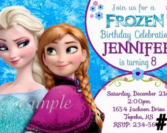 Disney Frozen Invitation You Print Digital File - Disney Princess Printable invite,  Birthday Party Invitation