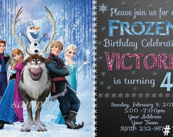 Frozen Invitation You Print Digital File - Disney Frozen Birthday Party Invitation