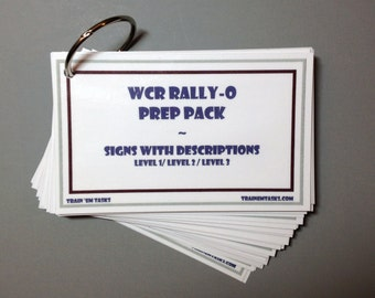 Wcrl rally obedience prep pack 41 cards with signs sign descriptions