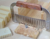 Wave Stainless Steel Soap Cutters Soap Trimmer with Wooden Handle Soap Mold