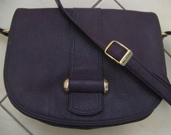Vintage 80s Japelle by JANE SHILTON Purple Satchel Shoulder Handbag Man Made Material