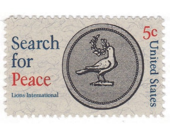 1967 5c Search For Peace - 10 Unused Vintage Postage Stamps - Item No. 1326