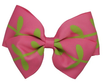 Pink Willow leaf bow hair clips for kids, hair clips, accessories clips,