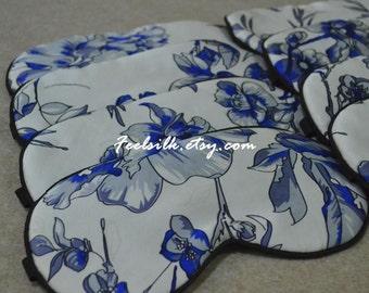 Free shipping 1pc handmade silk eyewear sleep eye mask travel mask sleeping mask elastic band big size 2014 new arrival