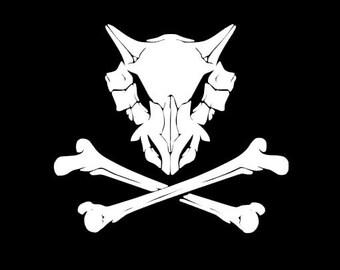 Cubone Skull & Crossbones Decal
