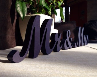 Royal Blue Sign Mr & Mrs- Wedding decoration-  Mr and Mrs signs for sweetheart table