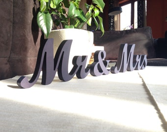 MR MRS LETTERS Gold Glittered Wedding Decor Signage