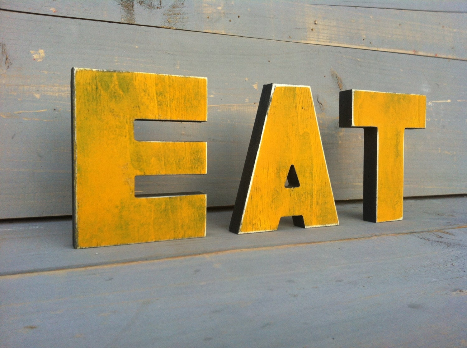 Eat sign kitchen sign eat wood letters home decor by sunfla for Kitchen letters decoration