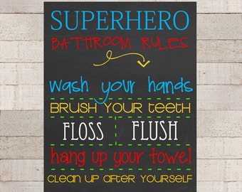 superhero bathroom sets. SUPERHERO Bathroom RULES Wall Popular items for superhero bathroom on Etsy Superhero Decor  bclskeystrokes