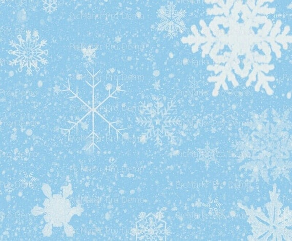 Winter Christmas Snowflake Background - Edible Cake and Cupcake Topper For Birthday's and Parties! - D9604