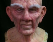 Basic Old Man Mask- great disguise and made to order- bald no eyebrows