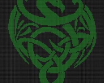 Celtic Dragon Cross Stitch Pattern