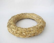 """Wreath Base Blank floral craft Base for a floral design Straw wreath for base 12"""" diameter Work form for decorating  Craft supply Home Deco"""