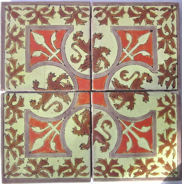 Italian Tiles Italian Ceramic Tile Mail: Vintage Italian Ceramic Tiles By AtticTrader On Etsy
