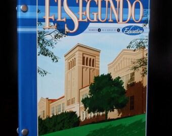 Custom El Segundo High School Hardcover Journal 8x10 with rule paper.