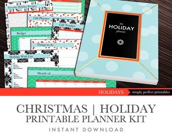 Christmas Planner | Holiday Planner | Printables PDF Kit