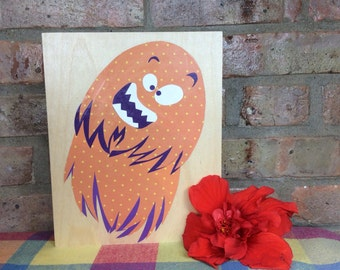 Nursery art, monster, handmade, original, OOAK