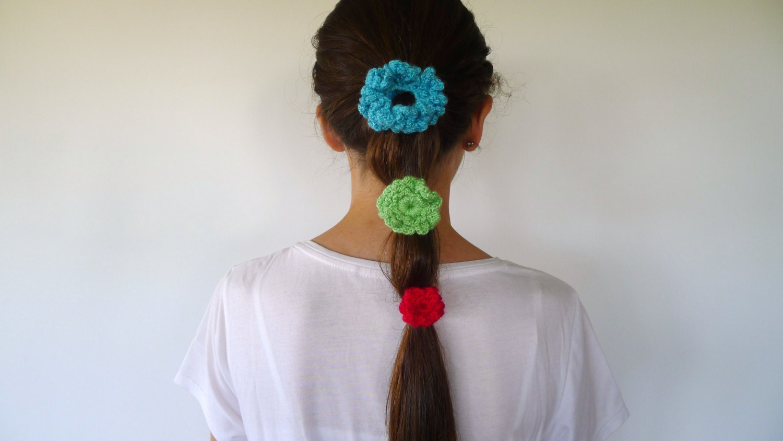 Coleteros de ganchillo hechos a mano para ni a y mujer for Decoraciones para el pelo
