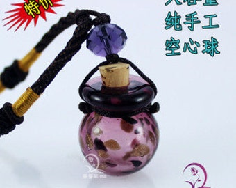 1pc Murano glass diffuser essential oil necklace(Assorted Colors),Perfume vial necklace,Aroma vial necklace