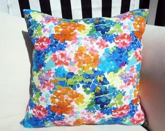 """Garden Party Floral 20""""x20"""" Linen Pillow Cover"""