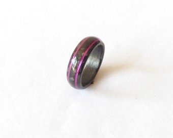 carbon fiber ring & pink wire