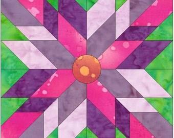 Sunbeam Paper Template Quilting Block Pattern PDF