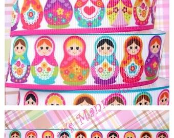 Very Cute Babushka Dolls Printed Grosgrain Ribbon! (A27)