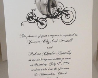 50 Cinderella Invitations for Weddings or any Occasion Customized for You