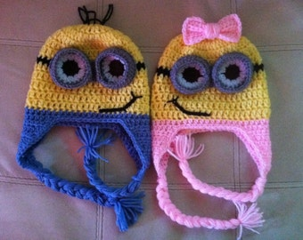 Minion beanie for boys and girls any age.