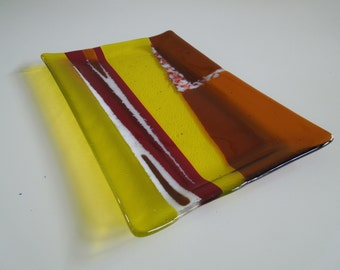 """12""""x8"""" Platter - Fall Color Abstract"""