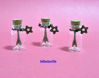 3pcs Eiffel Tower In A Bottle. Ideal Party Favors. #G3.