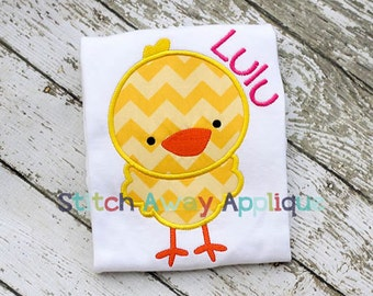 Easter Chick Machine Applique Embroidery Design
