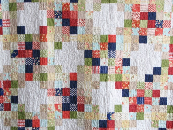 Avalon Irish Chain Quilt / Twin Size Quilt / by ModernPartiQuilts