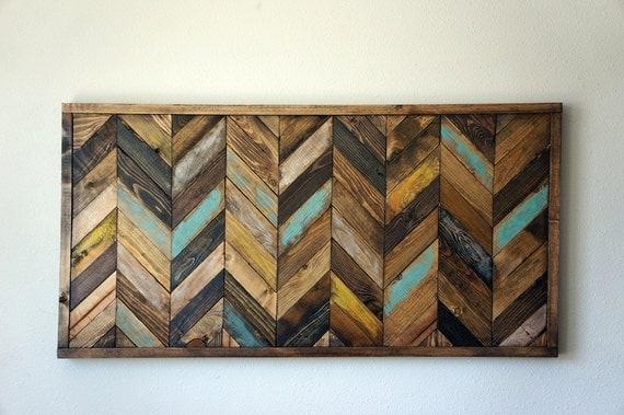 Chevron Wood Wall Decor : Chevron wood wall art