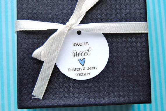 Custom Wedding Favor Tags, Round Favor Tags, Favor Tag