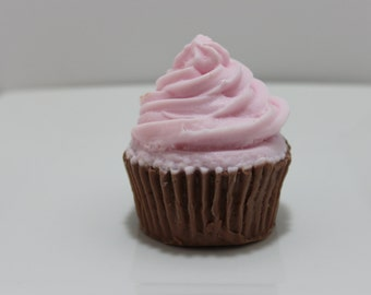 Cupcake Soap - Raspberry Cream Cupcake Scented - Novelty Soap